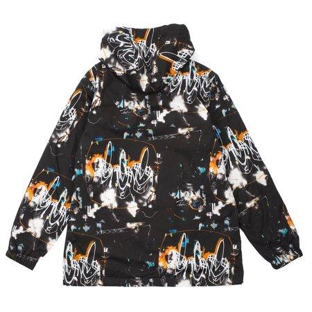 Comme Des Garçons Futura Print Hooded Jacket - Black