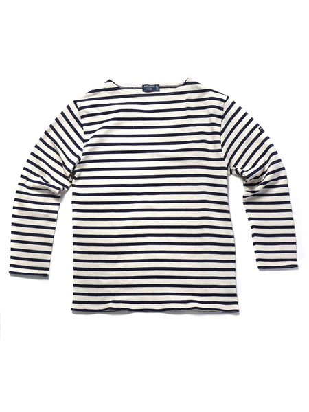 Saint James GUILDO LONG SLEEVE - ECRU/MARINE