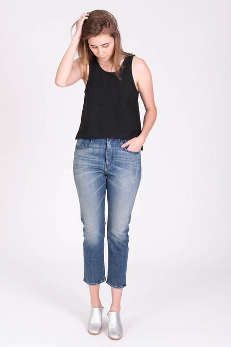 3x1 High rise crop boyfriend jean in Carlton