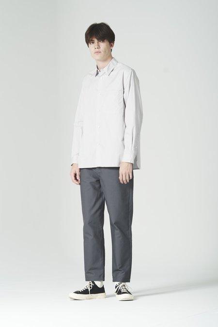 Still By Hand Regular Collar Shirt - Light Grey