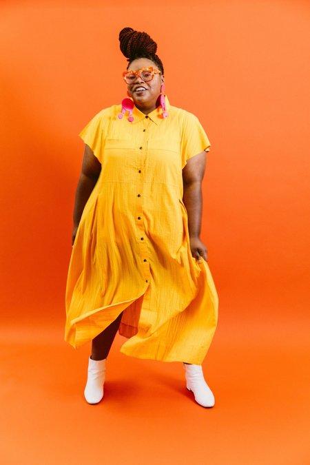 Mara Hoffman Aimilios Dress - Saffron