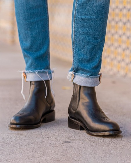 The CANO Shoe CARLOS Charro Boot - Black