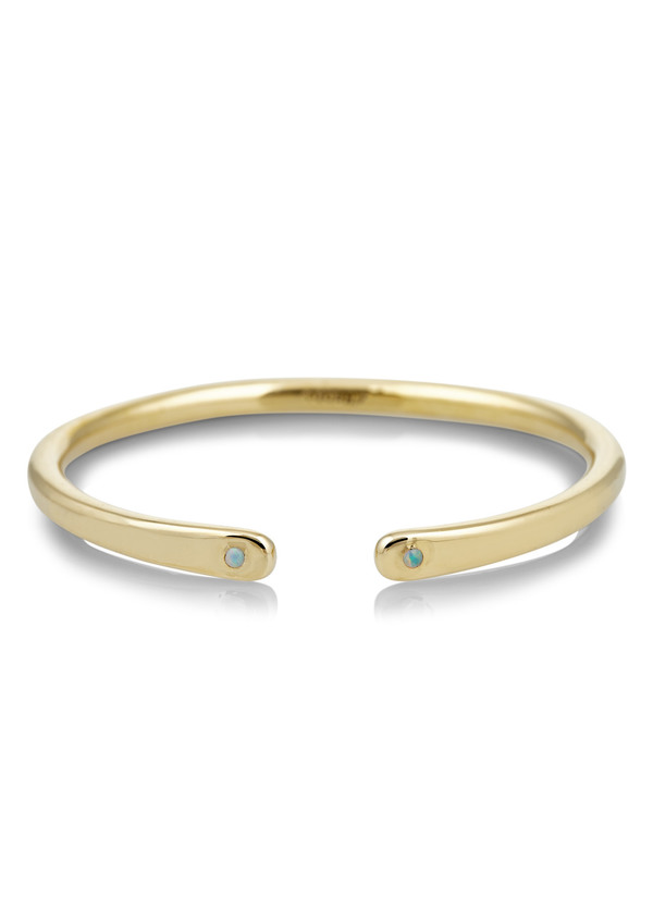 Scosha Open brass cuff with opals
