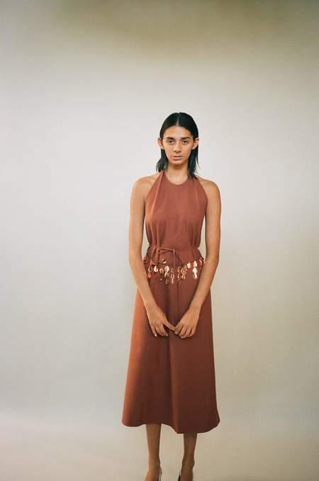 Baserange Apron Dress - Rust