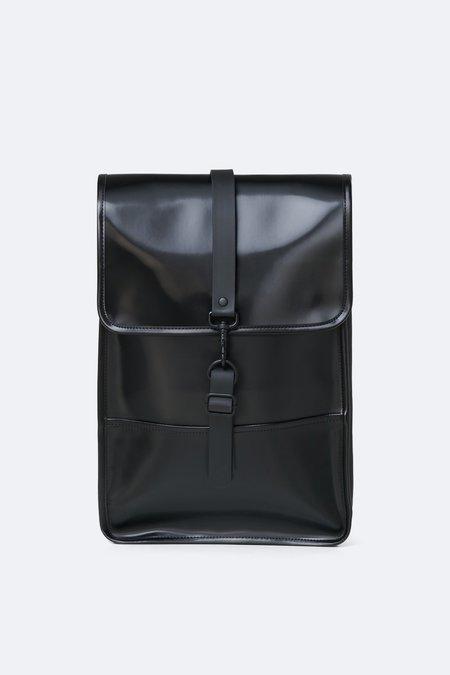 Rains backpack mini - shiny black