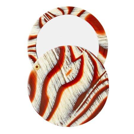 Machete circle mirror - canyon brown