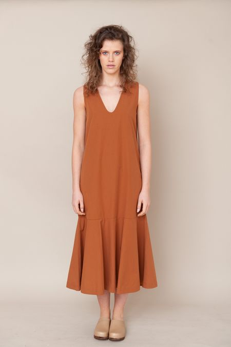 beaumont organic madelyn organic cotton dress - COFFEE