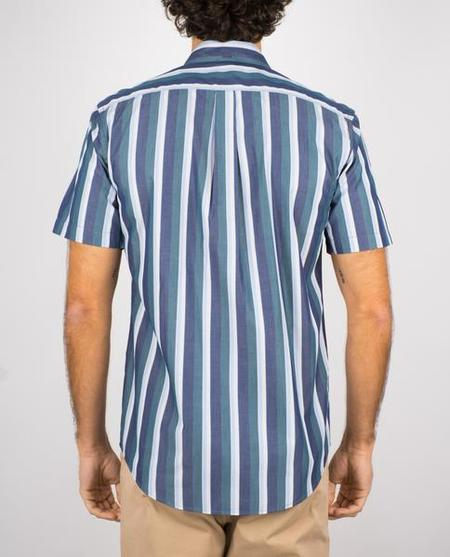 Portuguese Flannel marseille ss shirt - blue