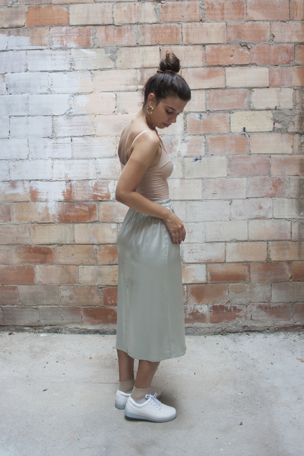 Baserange Jogging Skirt – Light Silk Satin