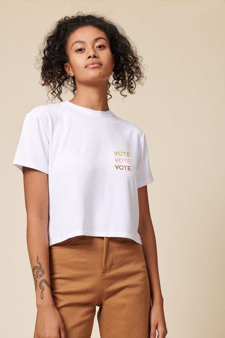 Whimsy + Row Vote Tee - White