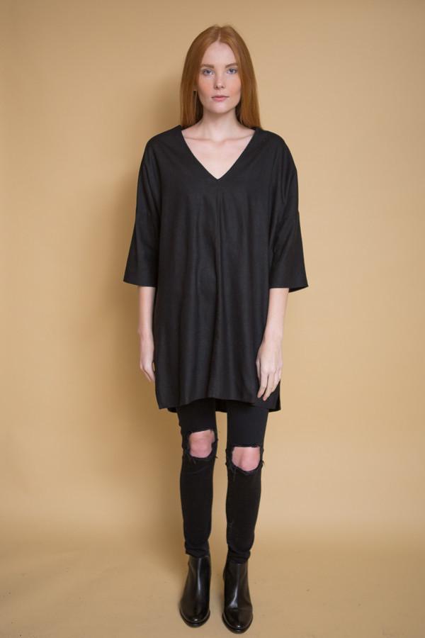 Ali Golden Kimono Tunic - Black