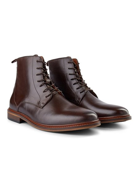 Shoe the Bear Ned Lace Up Boot - Brown Leather