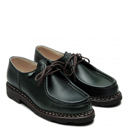 Paraboot Lisse Michael Derby Shoe - Vert