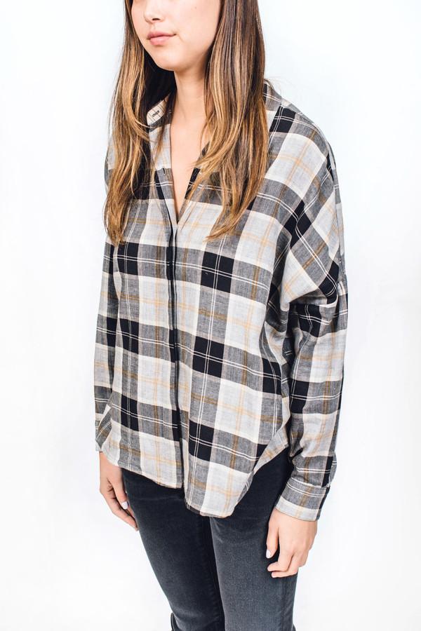 Sessun Delima Shirt Black Plaid