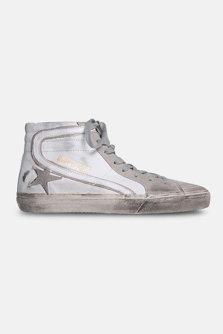 Golden Goose Slide Sneaker Shoes - White