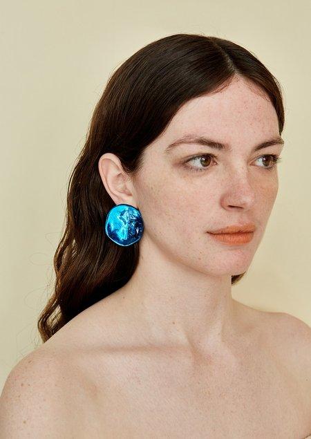 JULIE THÉVENOT REFLECTION ELECTRIC EARRINGS - BLUE
