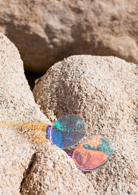 JULIE THÉVENOT REFLECTION PRISM EARRINGS - Sterling Silver/Lucite