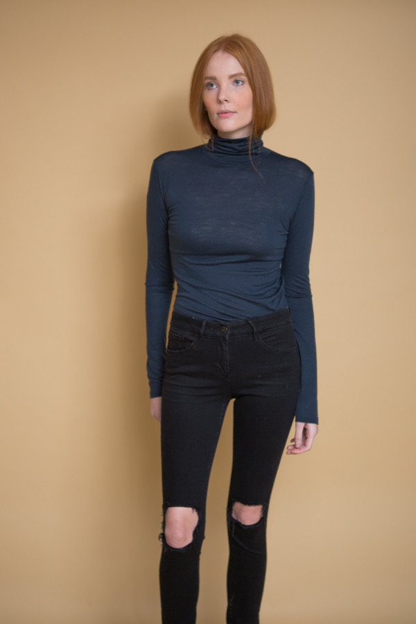 Just Female Violet Rollneck / Blue