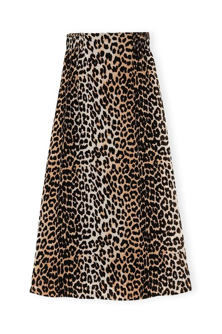 Ganni Printed Georgette Maxi Skirt - Leopard