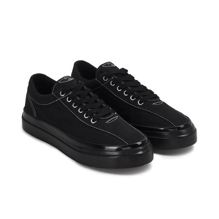 Stepney Workers Club Dellow Canvas Sneakers - Black/Black