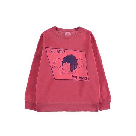 Kids Fresh Dinosaurs Art Angel Sweatshirt