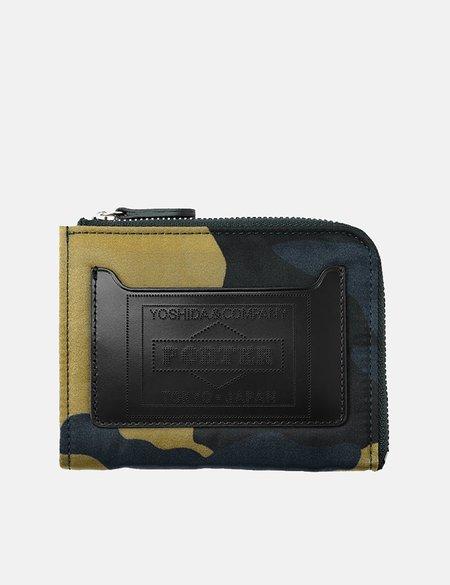 Porter Yoshida & Co Multi Camouflage Wallet - Woodland Khaki
