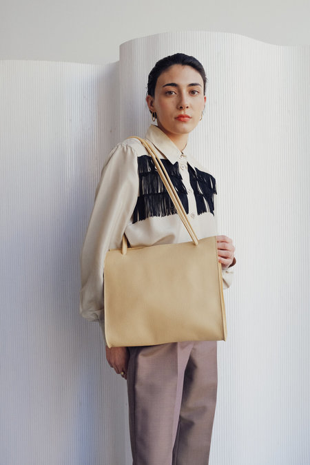 Leather Crown Lady Bag - Butter