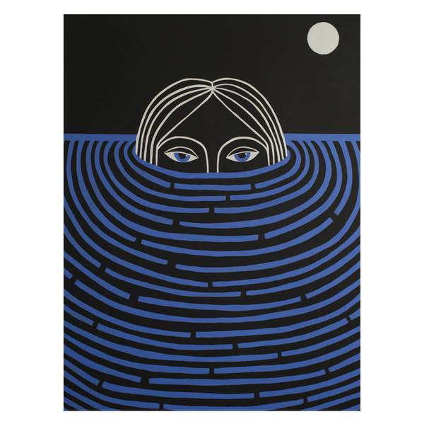 "Double Or Nothing Caris Reid ""Lunar Water Watcher"" Print"