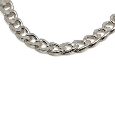 Maple Curb 50cm Chain - Silver