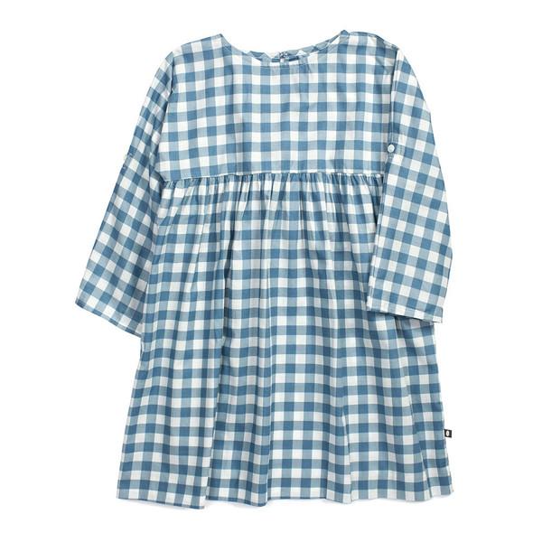 Oeuf 3/4 Sleeve Dress Gingham