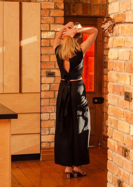 Penny Sage Flaneur trouser - black