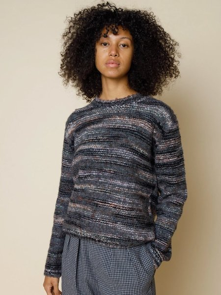 Folk Clothing Highlight Crew Knit - Charcoal Marble
