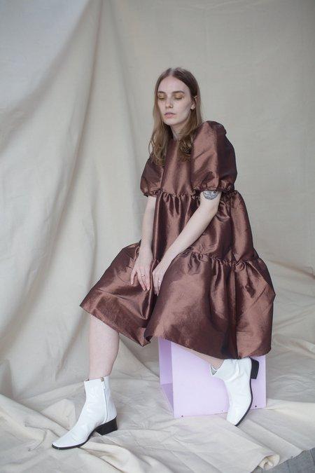Ali Golden Party Dress - Shiny Copper