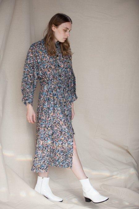 Henrik Vibskov Pipe Dress - Comb Landscape Black