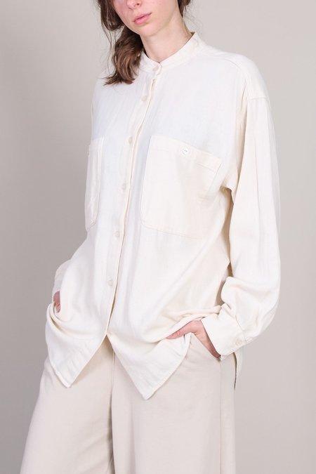 Black Crane Meca Shirt - Cream