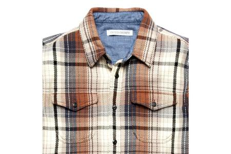 Outerknown Blanket Shirt - Earth Seaview Plaid