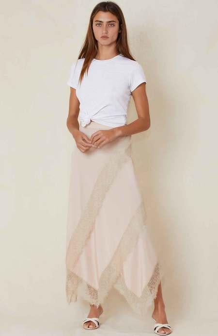 ROKH Panel Lace Skirt - Blush