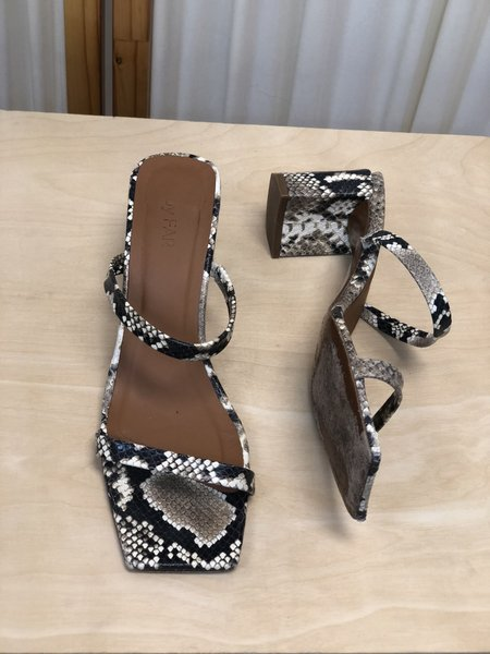 [Pre-loved] By Far Tanya Sandal - Snake Print