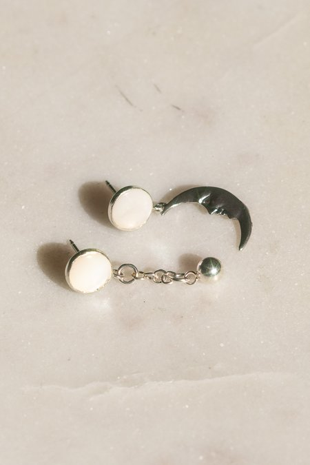 Body Double Moon Dropper Earrings