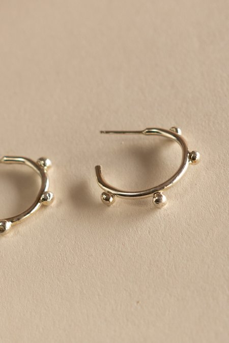 Body Double Studded Hoop Earrings