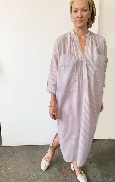 unisex Two Pocket caftan - Lavender Khadi