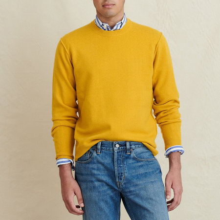 Alex Mill Reverse Seam Superfine Merino Wool Sweater - Sun
