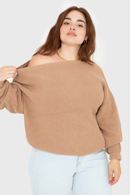 Callahan The Off Shoulder - Camel
