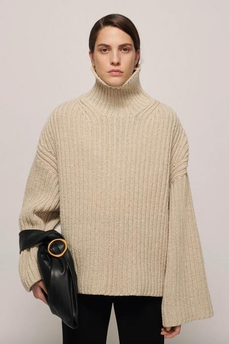 Nanushka Raw Sweater - Stone Melange