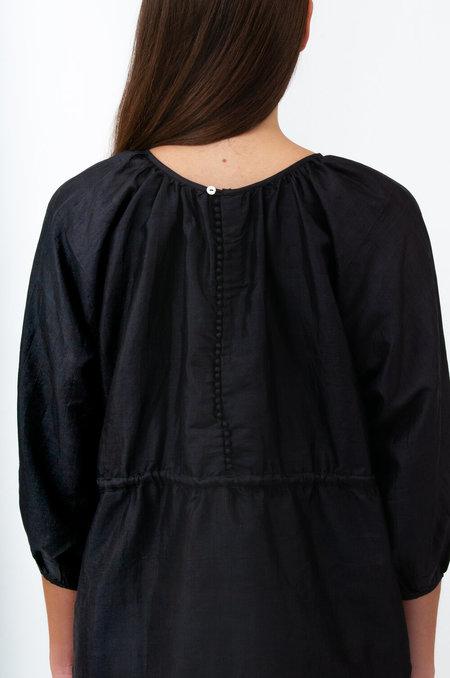 Bunon Back Button Blouse - Black