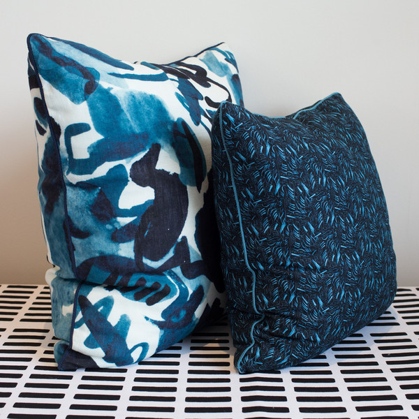 "Electra Eggleston HAVANA AZUL 22"" PILLOW"