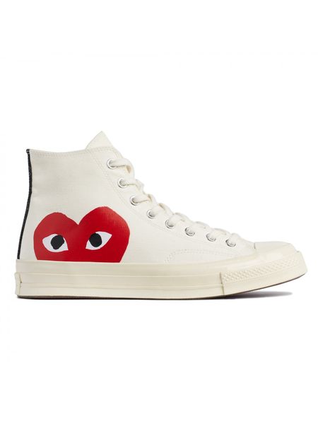 Unisex Play Comme Des Garçons x Converse Chuck Taylor All Star '70 High Sneakers - White