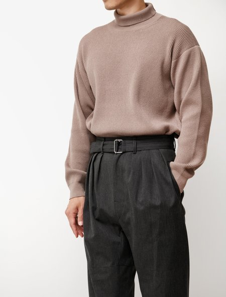 Lemaire 4 Pleats Pants - Anthracite