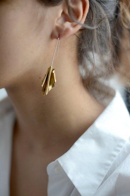 Faeber Studio Thalia Earrings - Brass/Silver