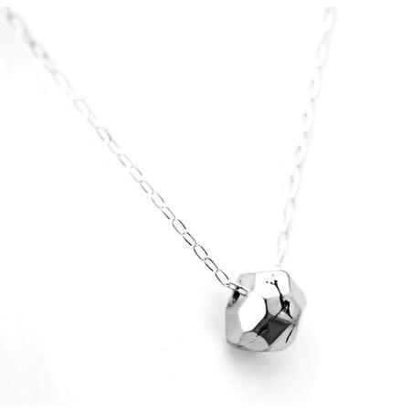 Upper Metal Class Im-Perfect Facet Necklace - Sterling Silver